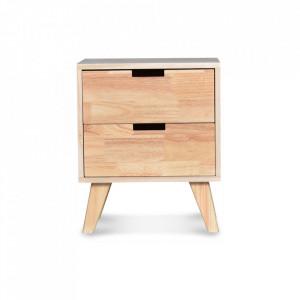 Noptiera maro din lemn si placaj Boutique Bedside Opjet Paris