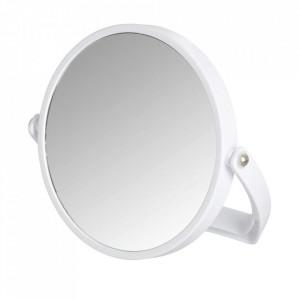 Oglinda cosmetica de masa rotunda alba din metal 19 cm Noale Wenko