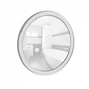 Oglinda cosmetica rotunda argintie din plastic 14 cm Pistoia Wenko
