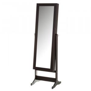 Oglinda de podea din MDF cu spatiu pentru depozitare 44,5x150 cm Jery Black Unimasa
