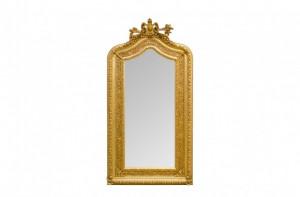 Oglinda dreptunghiulara aurie cu rama din lemn 108x207 cm Baroque Versmissen