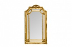 Oglinda dreptunghiulara aurie cu rama din lemn 120x205 cm Baroque Versmissen