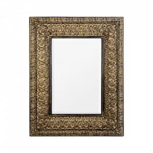 Oglinda dreptunghiulara aurie din rasina 111x140 cm Cher Vical Home