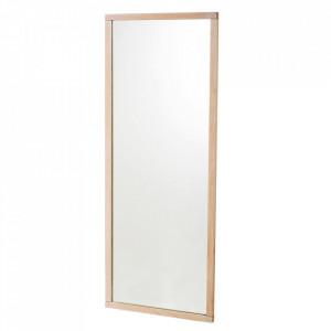 Oglinda dreptunghiulara maro deschis din lemn de stejar 60x150 cm Confetti Rowico Home