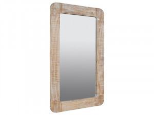 Oglinda dreptunghiulara maro din lemn mindi 75x110 cm Curvy Santiago Pons