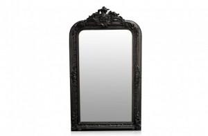 Oglinda dreptunghiulara neagra cu rama din lemn 90x160 cm Baroque Versmissen