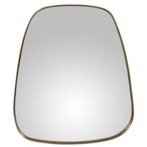 Oglinda ovala aurie din fier si MDF 66x76 cm Marla Zago