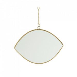 Oglinda ovala aurie din fier si sticla 16 cm Tikis Madam Stoltz