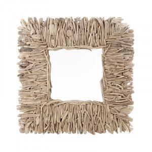 Oglinda patrata maro din lemn 96x102 cm Varverg Vical Home