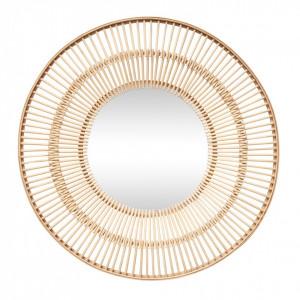 Oglinda rotunda maro din bambus 61 cm Sun Hubsch