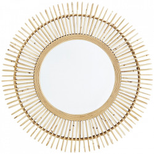 Oglinda rotunda maro din bambus 70 cm Ambra Madam Stoltz