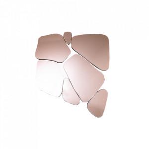 Oglinda roz din sticla 70x78 cm Fragment Invicta Interior