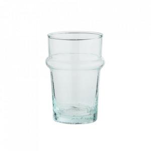 Pahar transparent din sticla reciclata 6,5x9,5 cm Beldi Madam Stoltz