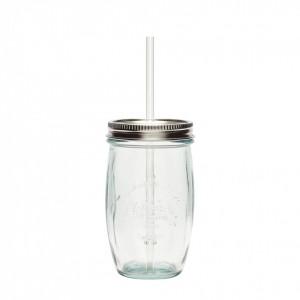 Pahar transparent din sticla reciclata 9x15 cm Hubsch