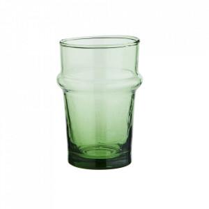 Pahar verde din sticla reciclata 6,5x9,5 cm Beldi Madam Stoltz