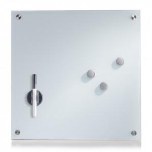 Panou memo alb din sticla 40x40 cm Lane Glass Zeller