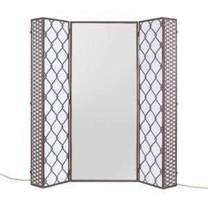 Paravan din MDF si oglinda cu LED 175 cm Lighting Trunk Seletti
