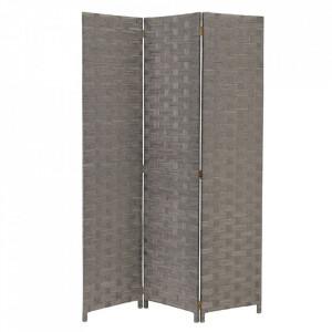 Paravan gri din hartie 175 cm Braided Paper Grey Unimasa