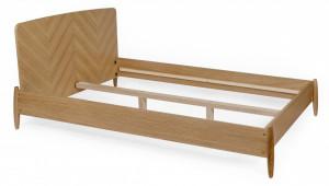 Pat maro din lemn 140x200 cm Farsta Herringbone Woodman
