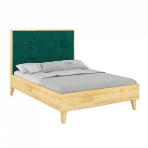Pat maro din lemn de pin 180x200 cm Frida Natural Skandica