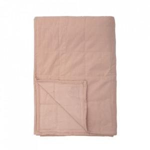 Patura roz din bumbac 150x220 cm Honesty Bloomingville