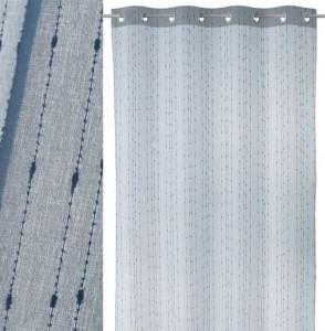 Perdea albastra din poliester 140x260 cm Chuva Unimasa
