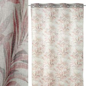 Perdea rosie din poliester 140x260 cm Palm Unimasa