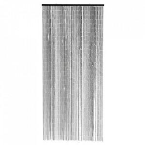 Perdea usa neagra din bambus 90x200 cm Nordal