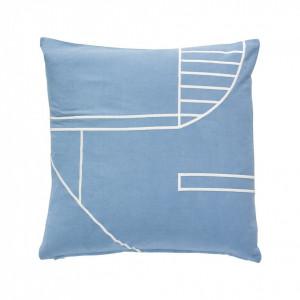 Perna albastra din bumbac 45x45 cm Hubsch