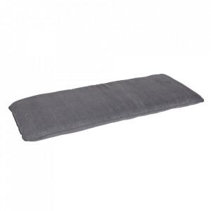 Perna de sezut dreptunghiulara gri din bumbac 50x120 cm Store Woood