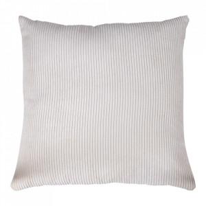 Perna decorativa alba din textil 45x45 cm Blanca House Nordic