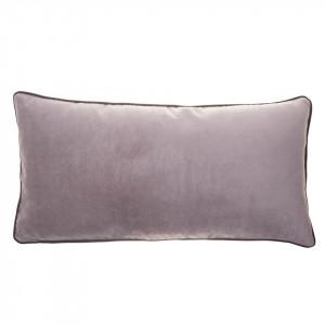 Perna decorativa dreptunghiulara gri din catifea 30x60 cm Dana Grey Zago