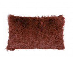 Perna decorativa dreptunghiulara maro din blana si poliester 30x50 cm Goat Fur Autumn LifeStyle Home Collection