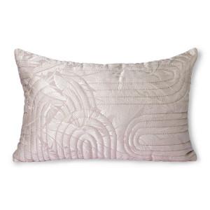 Perna decorativa matlasata dreptunghiulara nude/roz din poliester 40x60 cm Grassi HK Living
