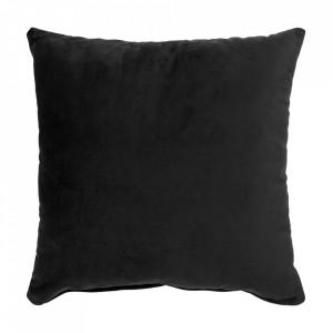Perna decorativa neagra din catifea 40x40 cm Lido House Nordic
