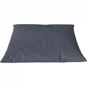 Perna decorativa patrata gri albastru din poliester 60x60 cm Classic Step Melange Bolia
