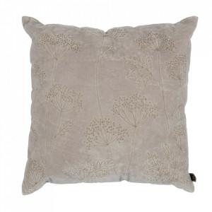 Perna decorativa patrata gri din bumbac 50x50 cm Hogweed Be Pure Home