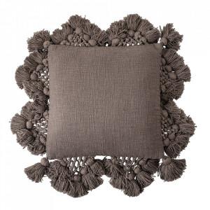 Perna decorativa patrata maro din bumbac 45x45 cm Mira Creative Collection