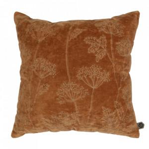 Perna decorativa patrata maro din bumbac 50x50 cm Hogweed Be Pure Home