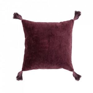 Perna decorativa patrata rosie din bumbac 45x45 cm Pixie Bloomingville