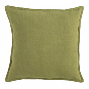 Perna decorativa patrata verde din bumbac si in 45x45 cm Crantock Ixia