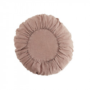 Perna decorativa rotunda roz din in si fibre 45 cm Jove Madam Stoltz
