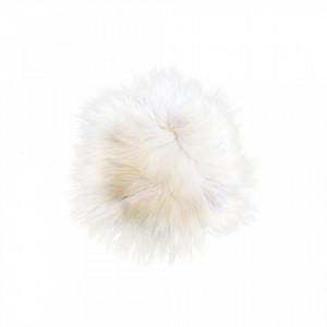 Perna sezut alba din blana de oaie 70x70 cm Sheepskin White Versmissen