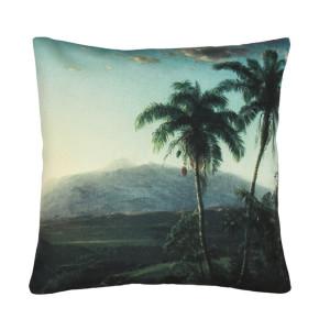Perna verde din bumbac 45x45 cm Palm Landskape HK Living