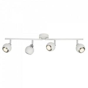 Plafoniera alba/argintie din metal cu 4 LED-uri Ina Brilliant