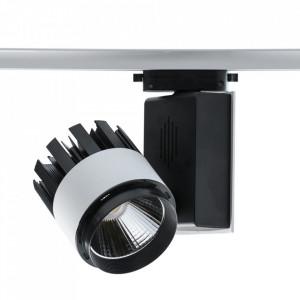 Plafoniera alba/neagra din metal si plastic cu LED Track MW Glasberg