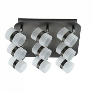 Plafoniera argintie din metal si plastic cu 9 LED-uri Galaxy MW Glasberg