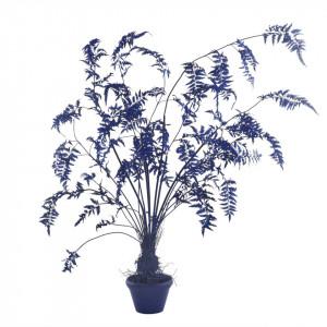Planta artificiala albastra cu ghiveci din lut si plastic 220 cm Fern Dark Blue Pols Potten