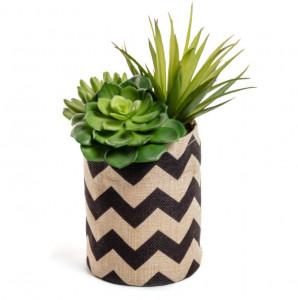 Planta artificiala cu ghiveci textil 23 cm Succulent Kave Home