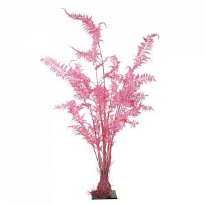 Planta artificiala roz din fier si plastic 220 cm Fern Pols Potten